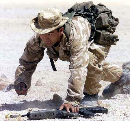 Gurkha assault rifle - afghanistan 2001