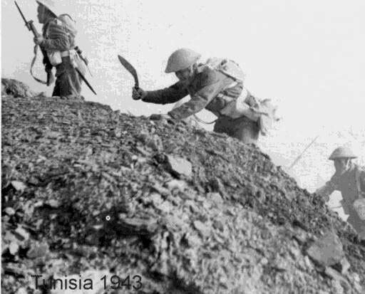 Gurkhas take a hill somewhere in Tunisia in 1943
