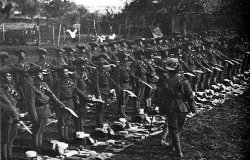 Kukri Inspection in France during World War I